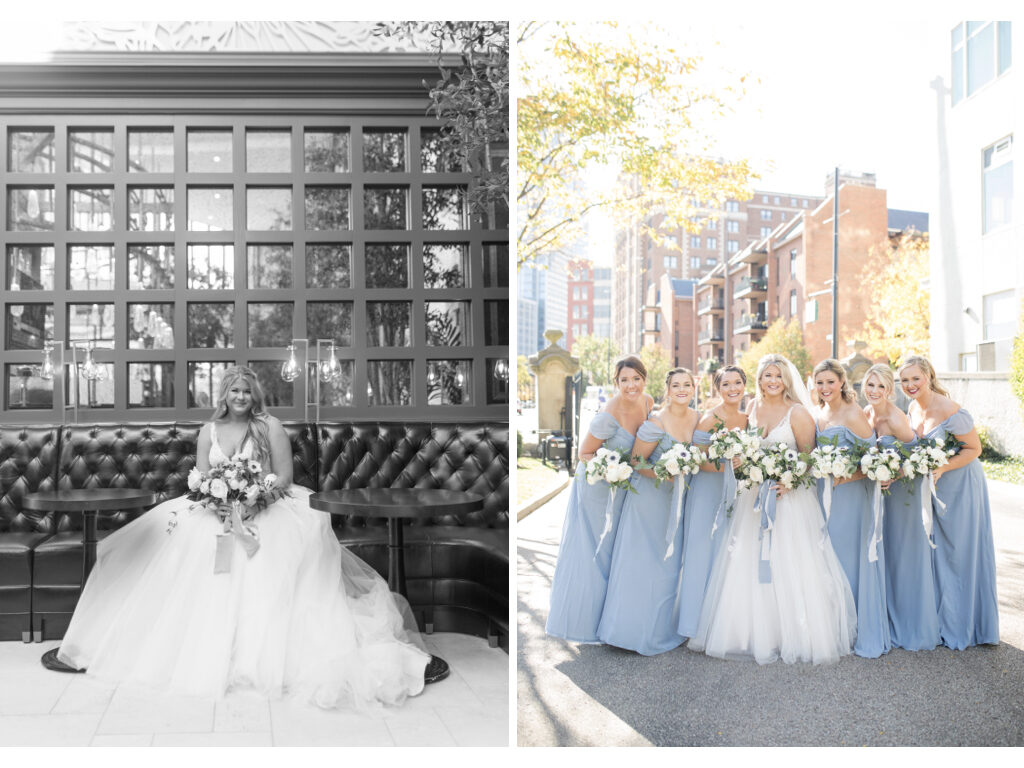 bride and bridesmaids photos