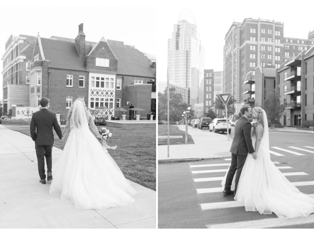 wedding photo at lytle park hotel cincinnati